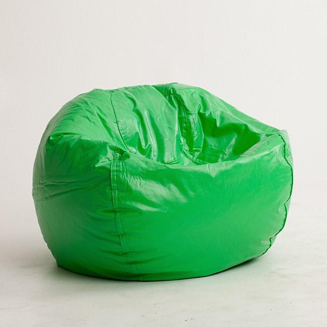 Beansack Lime Vinyl Green Bean Bag Chair Free Shipping