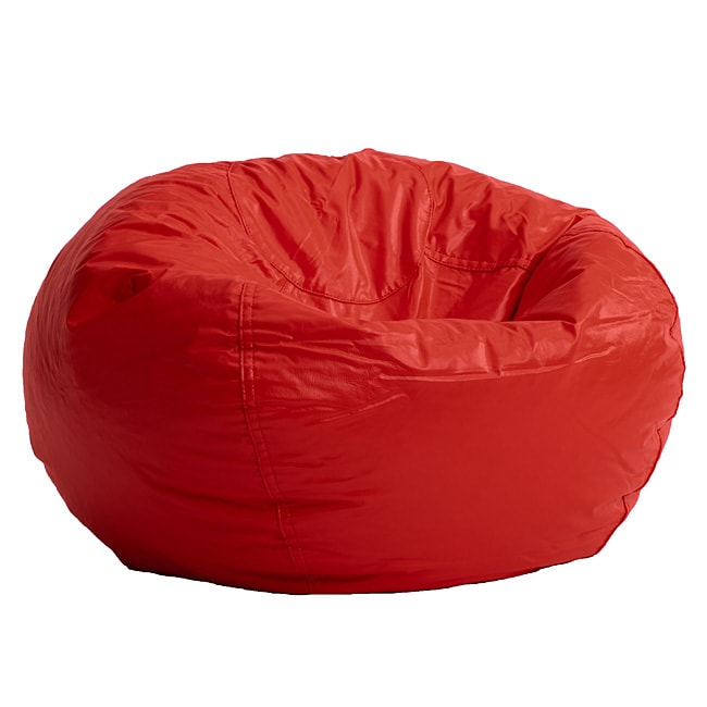 Shop Beansack Red Vinyl Bean Bag Chair Free Shipping On