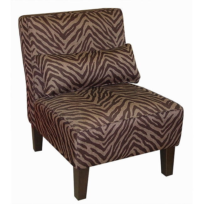 Made To Order Bam Zizi Espresso Armless Accent Chair