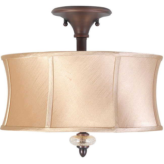 World Imports Chambord Collection 3-light Semi-Flush