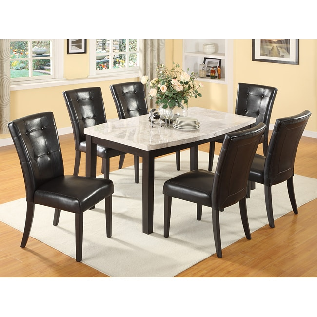 White Marble Dining Table Set Free Shipping Today  : L13911108 from www.overstock.com size 650 x 650 jpeg 84kB