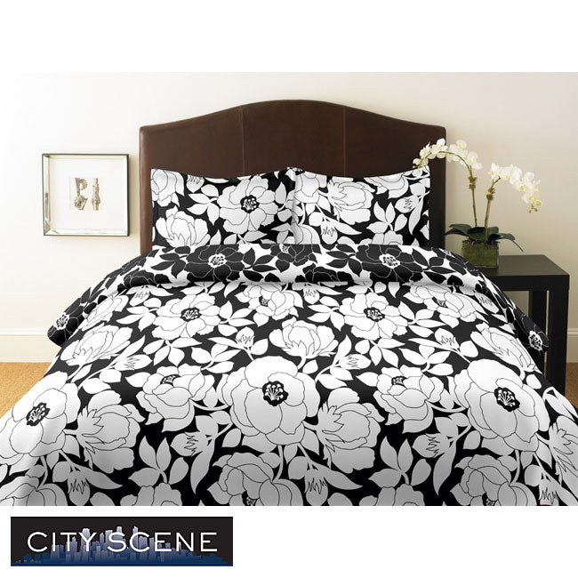 City Scene Mckenzie Floral 2-piece Twin-size Comforter Set