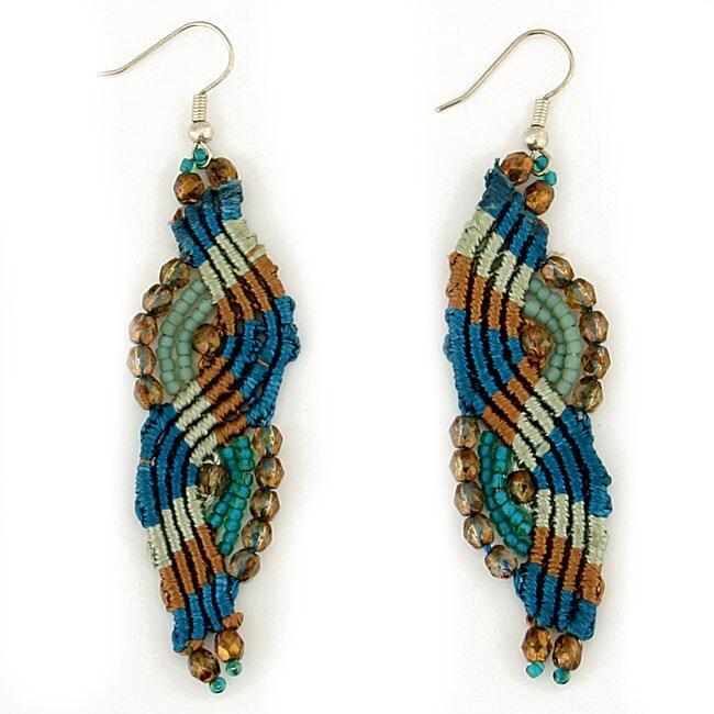 Lucia 'Windswept' Macrame Earrings (Guatemala)