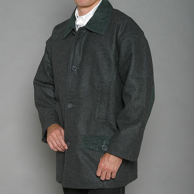 Trenders Men's Charcoal Wool-blend Jacket