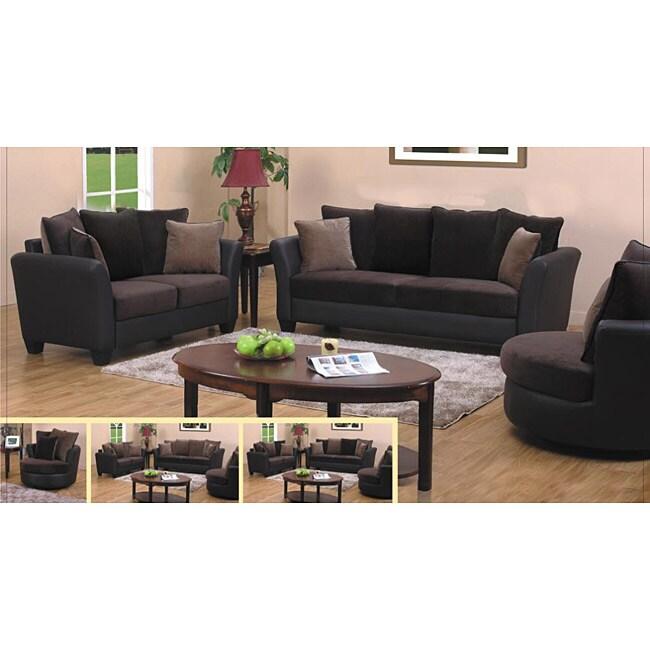 Mont Baldy Dark Brown Two-tone 2-piece Sofa Set