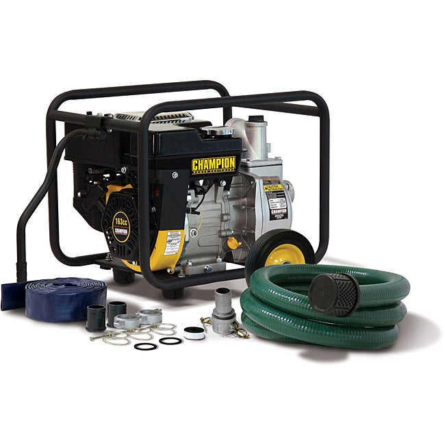 Champion 2-inch Trash and Water Transfer Pump with Hose Kit