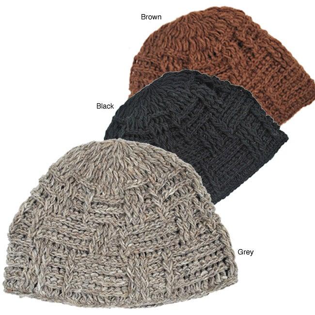 Basic Woven Wool Beanie (Nepal)