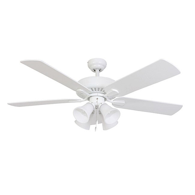 EcoSure Fair Haven 4-light White 52-inch Ceiling Fan