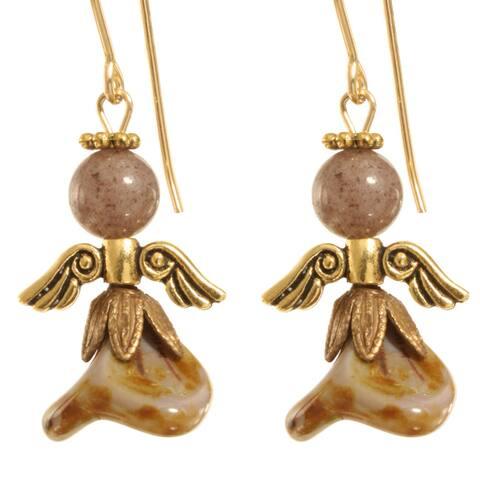 Uzziel' Gold Angel Earrings
