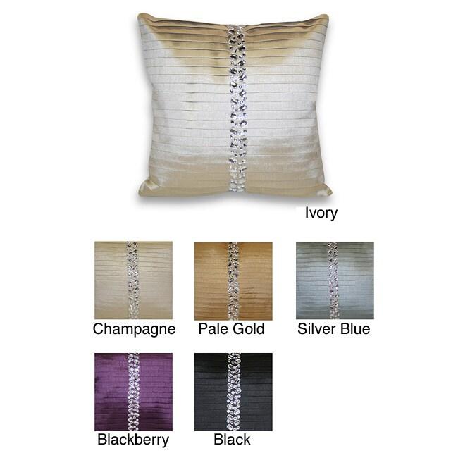 Diana Pleated Rhinestone Decorative Pillow