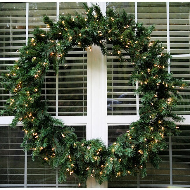 Olympia Spruce 48-inch Pre-Lit Artificial Wreath