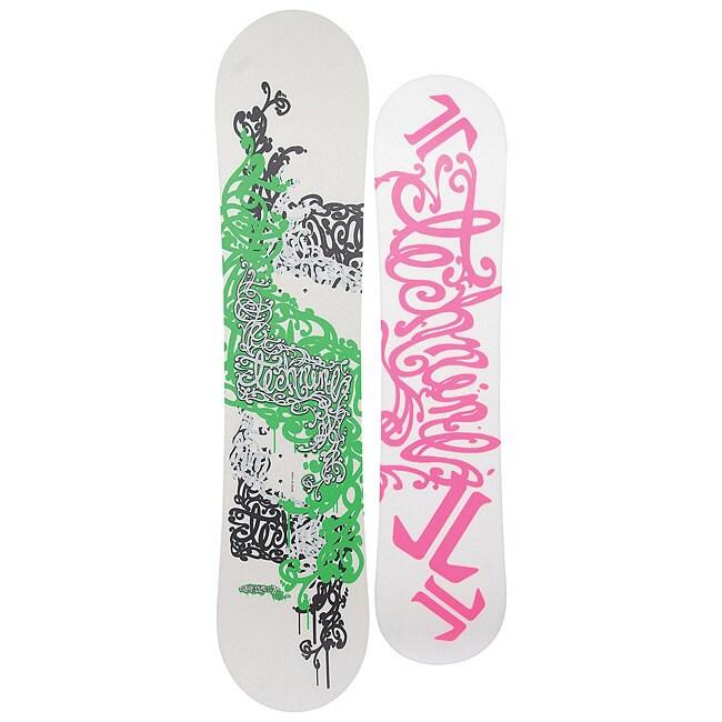 Technine Girl's White Lil Nine 111cm Youth Snowboard