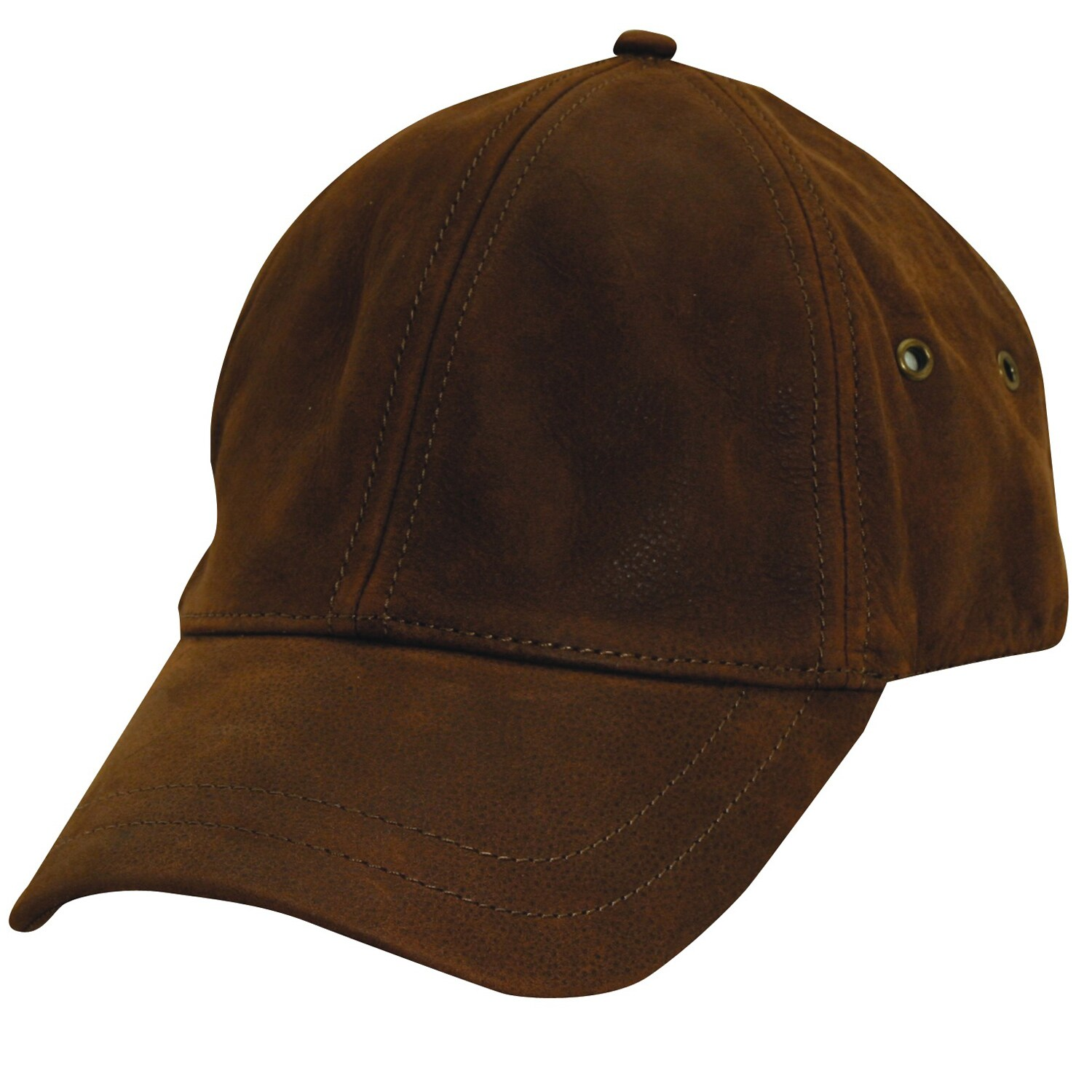 Stetson Men's 'Oily Timber' Brown Leather Cap - Thumbnail 0