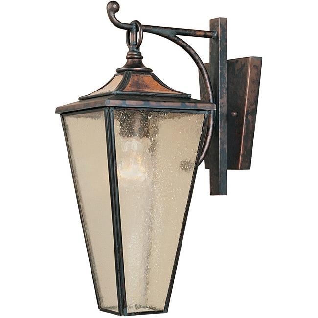World Imports Amber Rays 1-light Outdoor Hanging Wall Lantern