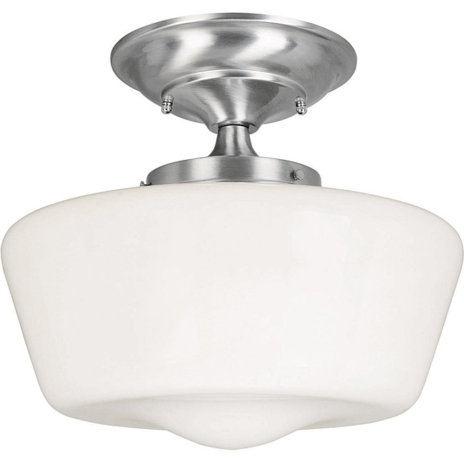 World Imports Schoolhouse Single Light Semi-Flush - Thumbnail 0