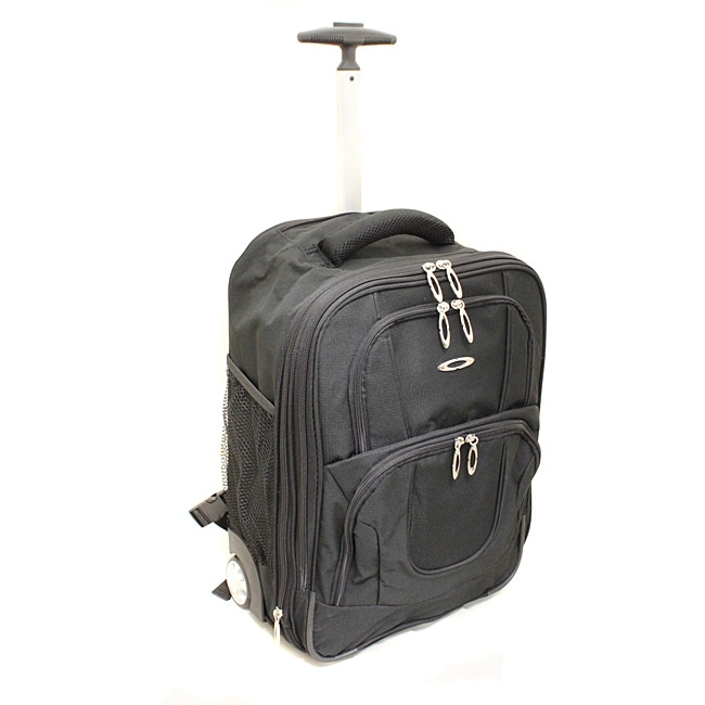 Kemyer Lightweight 17-inch Rolling Carry-on Backpack - Thumbnail 0