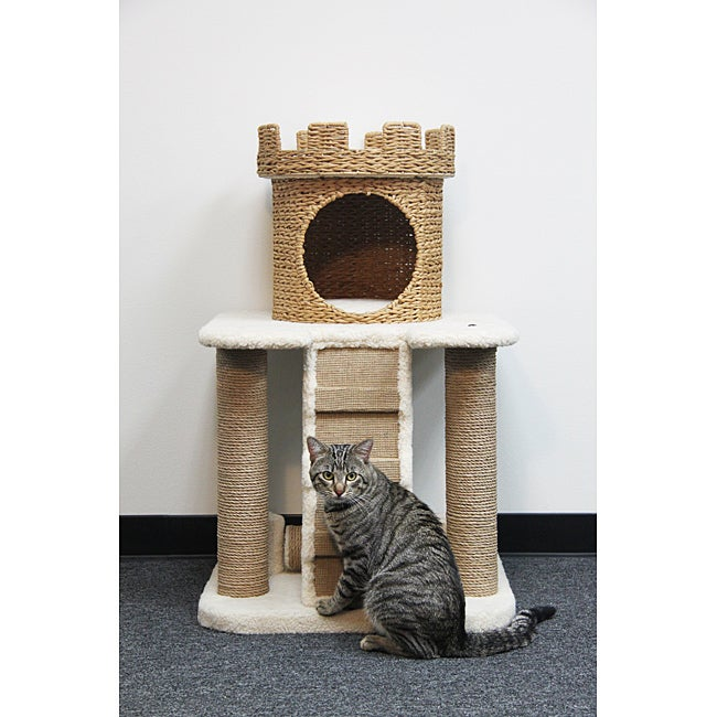 Pet pals go green 3 level castle home cat tree free for Castle cat tower