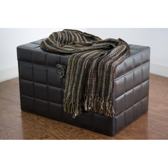 Rizzy Home High /Low Weave Acrylic Throw