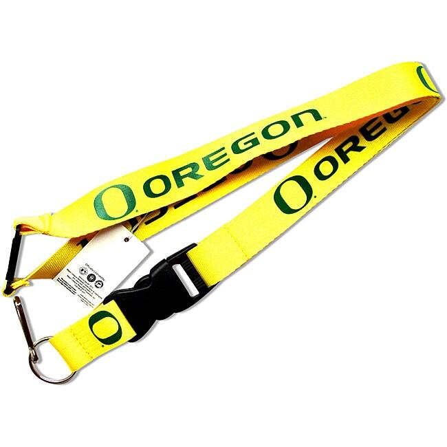Aminco Oregon Ducks Yellow Clip Lanyard