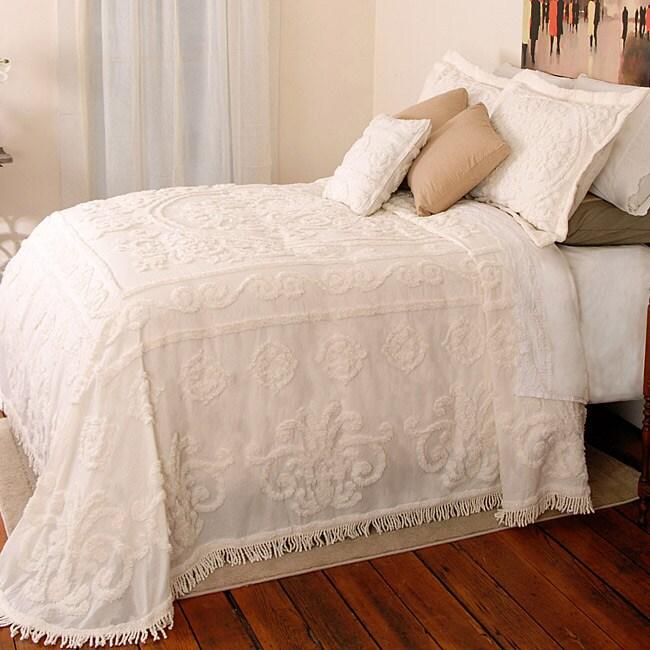 Louisa Ecru Chenille Twin-size Bedspread