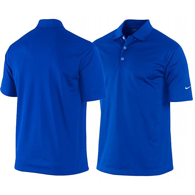 Nike Men 39 S Royal Blue Dri Fit Stretch Tech Golf Polo Shirt