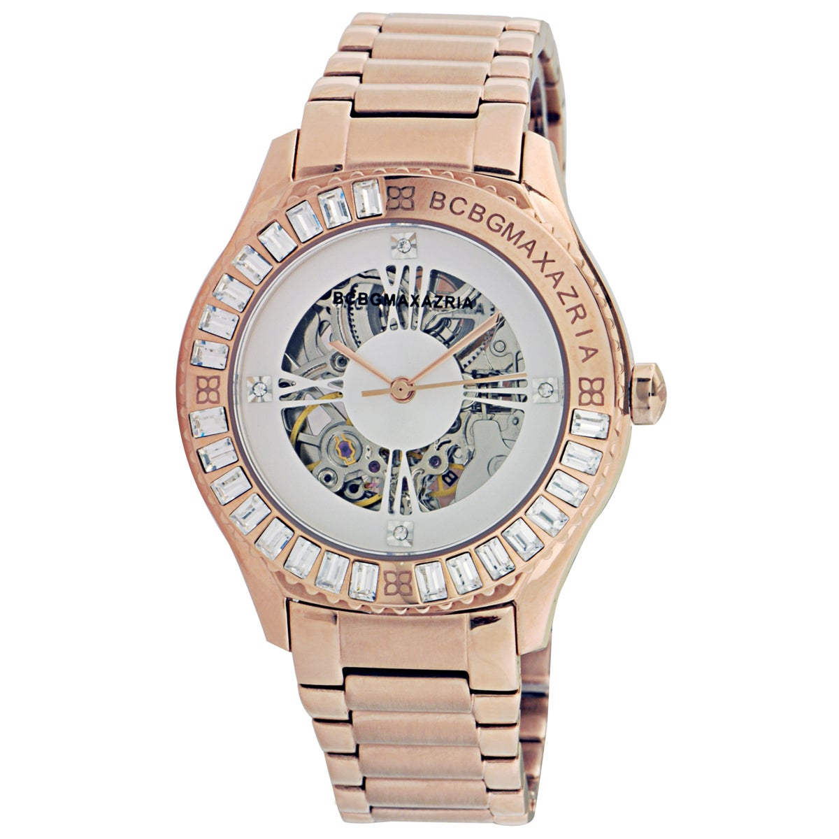 BCBG_Maxazria Women's 'VIP Glam Auto' Skeleton Automatic Watch
