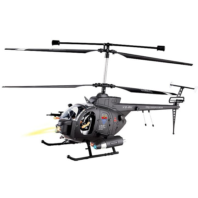 Hughes Defender Military Full-function 3 5-channel RC Helicopter