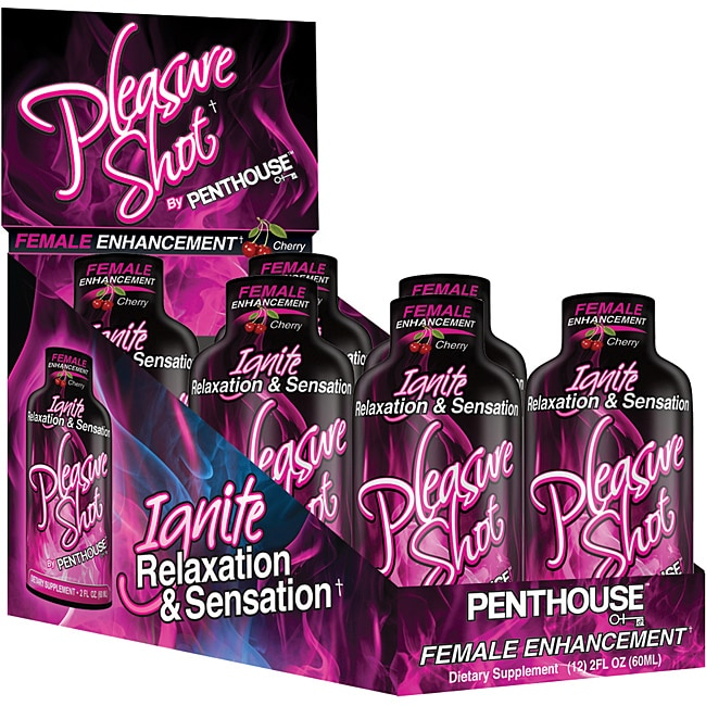 Penthouse Pleasure Shot Female Libido Enhancement Drink (Pack of 6)