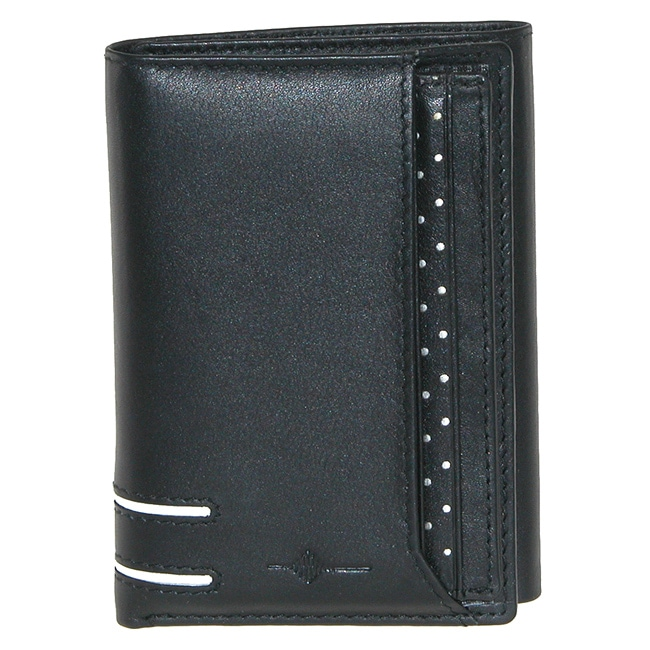 Buxton Men's Black Luciano ID Tri-fold Wallet