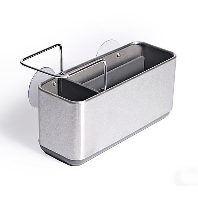 As Seen On TV Danya B Brushed Stainless Steel Sink Storage Caddy - Thumbnail 0