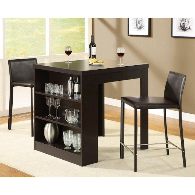 Cappuccino Hollow Core 32x36-inch Counter-height Table