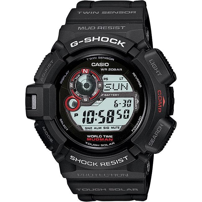 Casio Men's 'Mudman' G-shock Tough Solar Digital Watch (G...