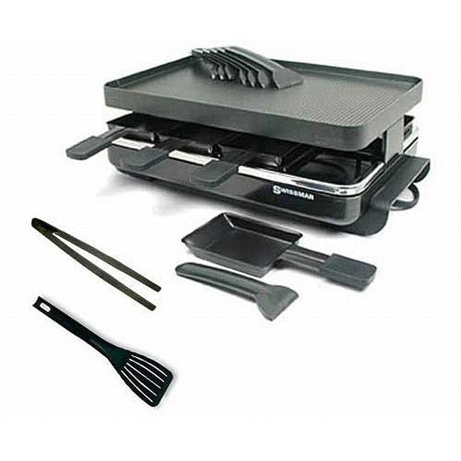 Swissmar Gourmet 8-person Black Raclette Grill Kit