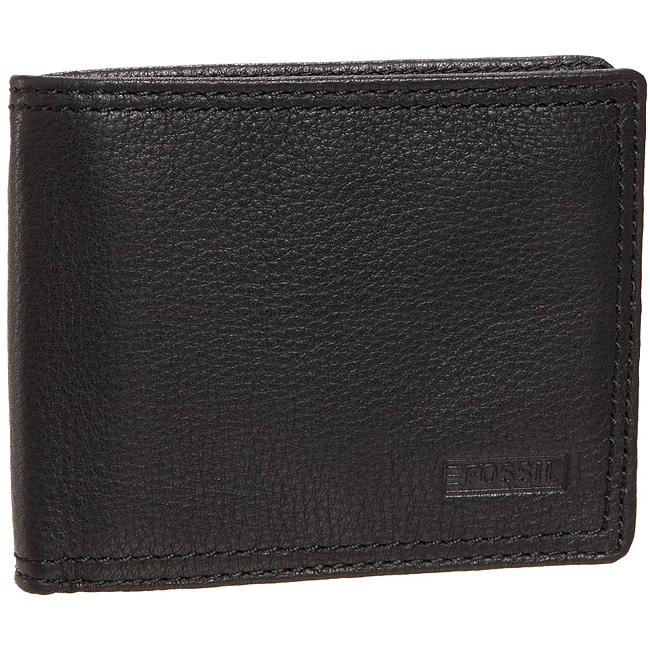 Fossil Men's 'Midway' Traveler Black Leather Wallet