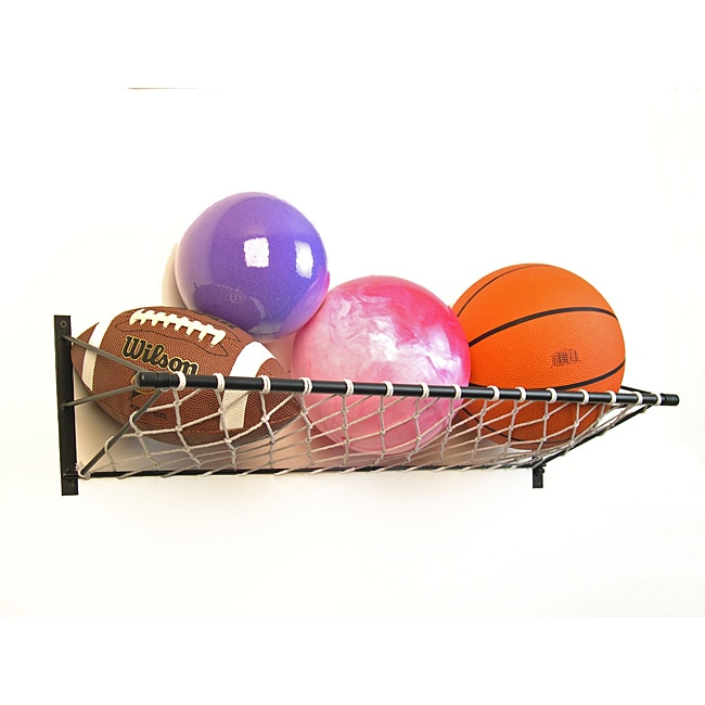 Toy and Ball Wall Organizer with Net