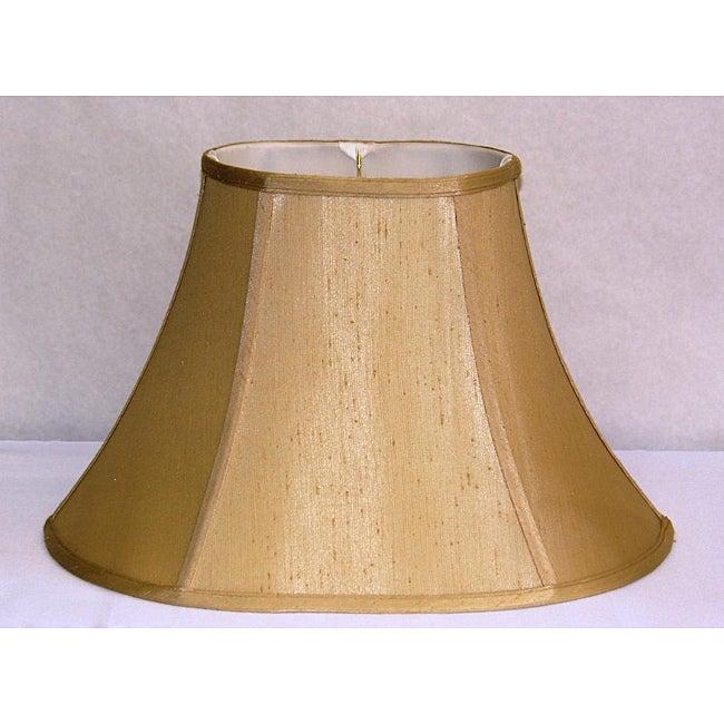 French Beige Shantung Silk Oval Shade