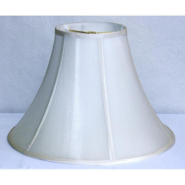 Cream Shantung Silk Bell Shade