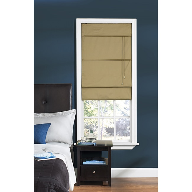 Thermal Fabric Taupe Roman Shade (31in x 72in) - Thumbnail 0