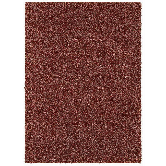 Grand Slam Red/ Multi Shag Rug (5' x 7')