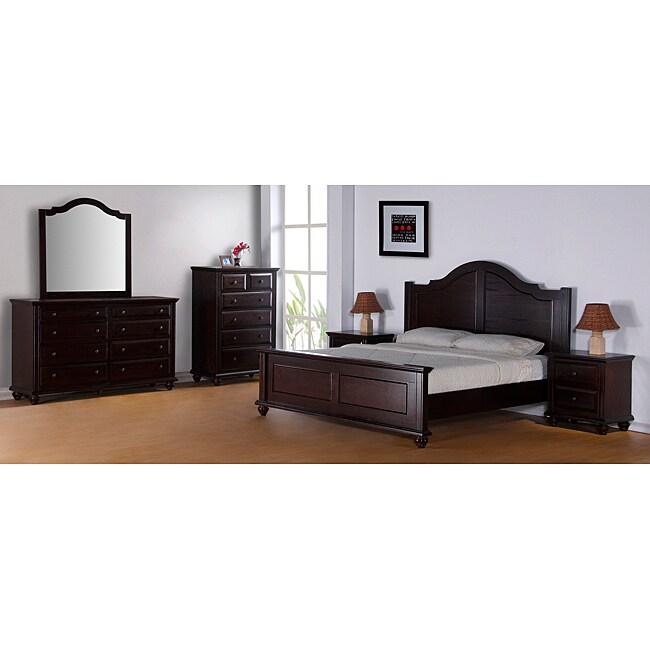 Cantley Dark Wood Queen-size 5-piece Bedroom Set