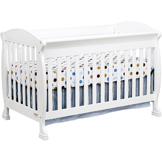 DaVinci Jacob 4-in-1 Crib with Toddler Rail in White