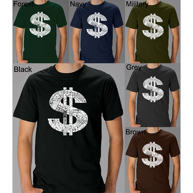 Los Angeles Pop Art Men's Dollar Sign T-shirt