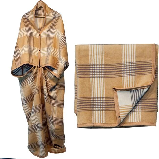 Bocasa Karo Woven Wearable Zip-up Cuddle Wrap Blanket
