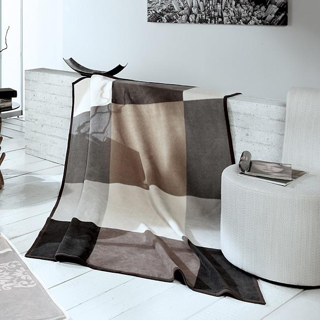 Bocasa Big Check Woven Throw Blanket