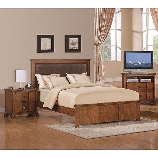 Brownstone 3 piece queen size bedroom set free shipping for 3 piece queen size bedroom set