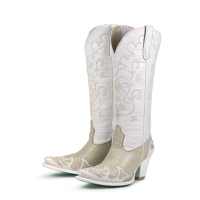 Lane Boots Women's Champagne 'Bridal Strut' Cowboy Boots