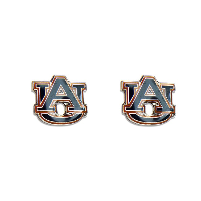 Aminco International Auburn Tigers Stud Logo Earrings