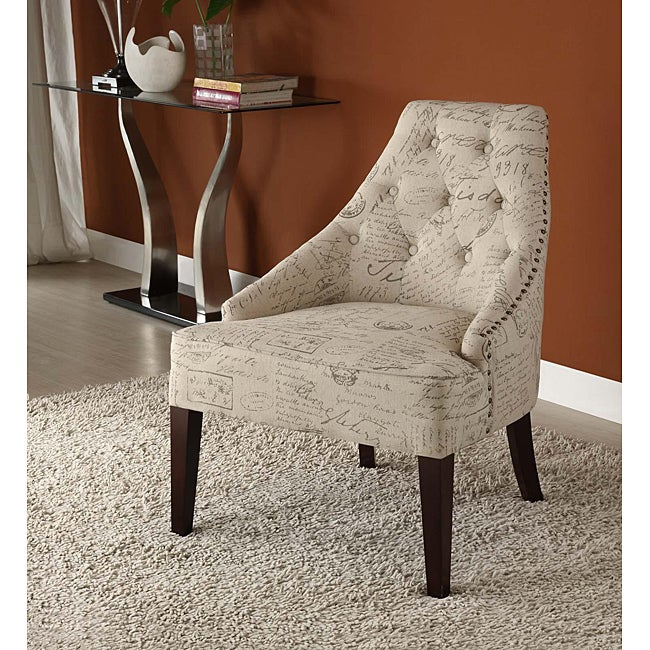 French Fabric Transitional Chair - Thumbnail 0