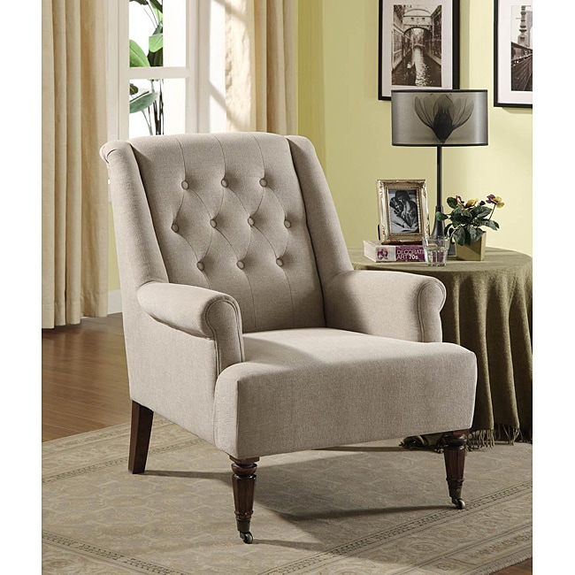 Sand Tufted Accent Chair