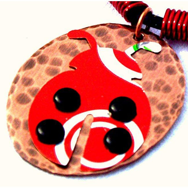 My Three Metals Aluminum Lady Bug Necklace